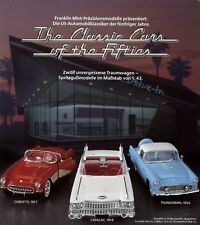 Franklin Mint Prospekt 1988 US Cars Fifties Modellautoprospekt Corvette Cadillac