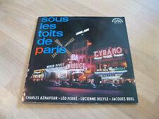 LP Sous les toits de Paris Charles Aznavour Leo Ferre Supraphon CSSR Vinyl 14472