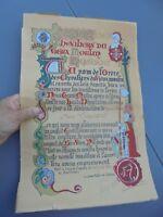Ancien Diplome de l'Ordre de Chevalier Vieux Moulin Nestou Cagnes sur Mer 1963
