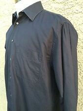 ZANELLA (ITALY) LONG SLEEVE BLACK MEN'S DRESS SHIRT EUC 39/15 1/2 D20