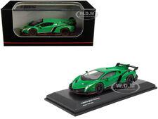 Lamborghini Veneno Green W/ Red Line 1/64 Diecast Model Car by Kyosho Ks07040a2