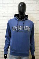Datch Uomo Taglia XL Maglione Felpa Sweater Cardigan Pullover Blu Cotone Man