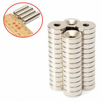 50 Stück Super Starke Neodym Ring Scheiben Magnete Magnet N50 Ø 10 X 3 mm Set