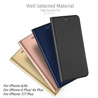 Luxury Magnetic Leather Wallet Flip Case Cover Card Holder Fr iPhone 6 6S 7 Plus