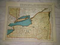 1942 Railroad Map of New York With A Railroad Map of New Mexico On The Reverse