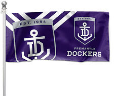 Freo FREMANTLE DOCKERS AFL Pole Flag LARGE 1800 x 900mm Gift Pole not included