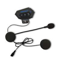 BT12 Kabellos Motorrad Bluetooth V4.0 Helm Headset Freisprech Kopfhörer