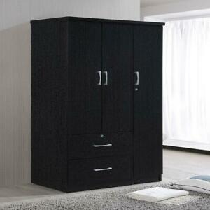 Bedroom Armoire Drawers Cabinet Clothes Storage Organizer Wardrobe Closet 3 Door