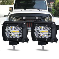 2Pcs 4inch 200W CREE LED Work Light Bars Offroad Spotlight Work Driving Lamps