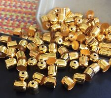 Iron Bell-Shaped Cord End Dome Caps for Jewelry and Crafts-100 Pieces Us Seller