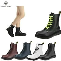 DREAM PAIRS Womens Martin Military Combat Ankle Boots Lace Up Low Heel Boots