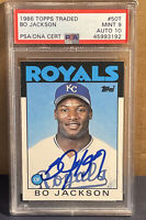 1986 TOPPS TRADED BO JACKSON auto PSA/DNA 10 rookie PSA 9 mint 50T