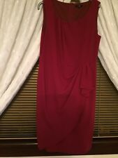Ladies Linea (House Of Fraser) Dress Size 16 Wine Colour