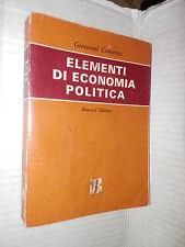 ELEMENTI DI ECONOMIA POLITICA Giovanni Conserva Bonacci 1968 manuale corso libro