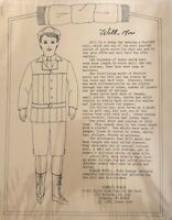 Donna's Dolls Will An Old Fashioned Boy Doll & 1900's Norfolk Suit PATTERN ONLY