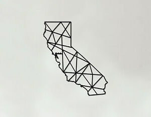 California Art - Wooden Laser Cut Wall Art - Geometric Country Art