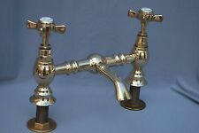 BRASS BATHROOM BASIN MIXER TAPS RECLAIMED & FULLY REFURBISHED OLD MIXER TAPS