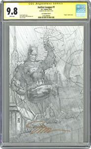 Justice League 1G Jim Lee Sketch 1:500 Variant CGC 9.8 SS 2018 2535288004
