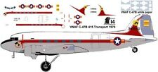 Vietnam Af C-47 415 Transport decals for Minicraft 1/144 kits