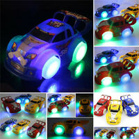 Funny Flashing Music Racing Car Electric Automatic Toy Boy Kid Birthday Gift FE