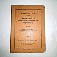 Constitution of the Brotherhood of Locomotive Fireman and Enginemen January 1942