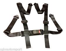 NUOVO Sport Racing Cablaggio Cintura di sicurezza 3 / 4 PUNTI FISSAGGIO MONTAGGIO NERO