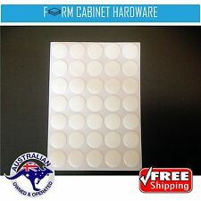 35 X  SELF ADHESIVE SCREW COVER CAP WHITE 14mm Peel & Stick