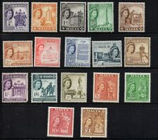 Malta Sc 246-62 1856 1st QE II  long stamp set mint Free Shipping
