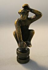Lamp Finial-MONKEY-Aged Brass Finish, Highly detailed metal casting