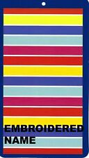 """40"""" x 72"""" Oversized Name Embroidered Beach / Pool Towel With Candy Stripe Design"""