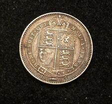United Kingdom Great Britain 1887 One Shilling BEAUTIFUL DETAIL CONDITION