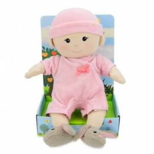 Organic BABY Doll GIRL - 100% Organic Cotton, Removeable Clothes & Diapers
