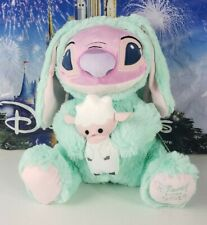 "Disney Store Angel Lilo & Stitch Easter Bunny with Lamb 10"" Plush"