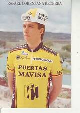CYCLISME carte cycliste rafael LORENZANA BECERRA équipe PUERTAS MAVISA