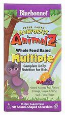 Bluebonnet Super Earth Rainforest Animalz Kids Multi 90chews Orange Grape Cherry