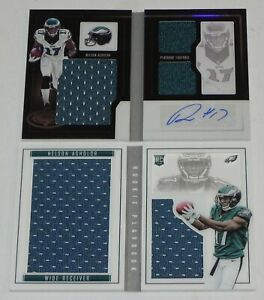 LOT of 2 - NELSON AGHOLOR 2015, 2016 Playbook AUTO Autograph Jersey CARDS