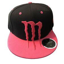 Monster Energy Hat Black and Pink SnapBack Adjustable