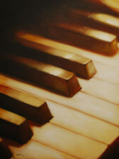 Piano Keyboard by pollard 12x16 BIG signed art print music room