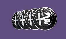 X4 Alfa Romeo Centre de roue Cache Moyeu Autocollants 50 mm Mito 147 logo chromé