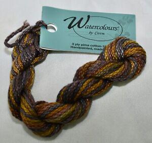 Caron Watercolour 3 ply pima cotton 10 yds handpainted 138 Winter Wheat brown