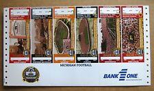 University of Michigan uncut ticket sheet - Michigan Football -Historic Stadium