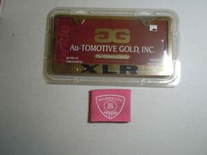 AU-TOMOTIVE GOLD CADILLAC XLR GOLD LASER ETCHED STANDARD LICENSE PLATE