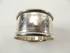 ANTIQUE SILVER NAPKIN RING HALLMARKED BIRMINGHAM 1922 REF 438/8