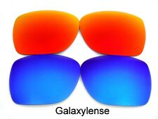 Galaxy Replacement Lenses For Oakley Deviation Sunglasses Blue/Red Polarized
