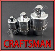 Craftsman Hand Tools 3pc 1/4 3/8 1/2 Reversible Ratchet Adapter set !