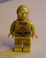 Lego Star Wars C-3PO Figur ( C3PO Droide Druide gelb 3PO dekorierte Beine ) Neu