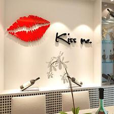 Removable Kiss Me Acrylic Wall Decal Home Decor Wall Sticker Art Living Room USA