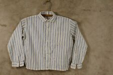 Antique 19th Century to 1920's Linen Long Sleeve Youth/Teen Boys Shirt Original