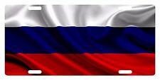 RUSSIA  Flag Custom License Plate Russian Emblem Wave Version