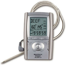 Digital Roast Meat Thermometer Timer Alert Alarm Wire Probe LCD Wall Mount Stand